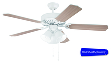 "Craftmade C205W - Pro Builder 205 52"" Ceiling Fan with Light in White (Blades Sold Separately)"