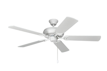 "Craftmade DCF52MWW5 - Decorator's Choice 52"" Ceiling Fan with Blades in Matte White"