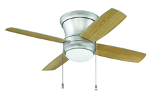 "Craftmade LAVH52BP4 - Laval 52"" Hugger Ceiling Fan with Blades and Light in Brushed Pewter"