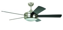 "Craftmade TIT52SCH5LKRCI - Titan 52"" Ceiling Fan with Blades and Light in Satin Chrome"