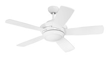 "Craftmade TMP44W5 - Tempo 44"" Ceiling Fan with Blades and LED Light Kit in White"