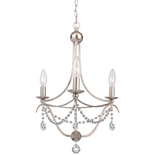 Crystorama 413-SA-CL-MWP - Crystorama Metro 3 Light Antique Sliver Mini Chandelier II
