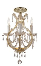 Crystorama 4473-GD-CL-MWP_CEILING - Crystorama Maria Theresa 4 Light Clear Crystal Gold Flush Mount