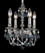 Crystorama 5504-PW-SS-MWP - Crystorama Gramercy 4 Light Clear Crystal Pewter Mini Chandelier II