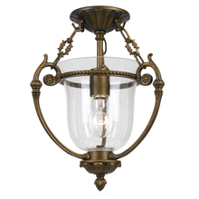 Crystorama 5661-AB - 1 Light Antique Brass Transitional Ceiling Mount