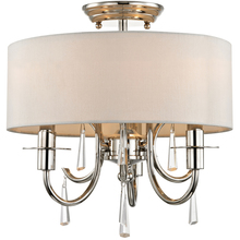 Crystorama 6033-PN-CL-MWP_CEILING - Crystorama Cody 3 Light Crystal Polished Nickel Ceiling Mount