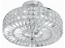 Crystorama 814-CH-CL-MWP - 4 Light Polished Chrome Crystal Ceiling Mount Draped In Clear Hand Cut Crystal