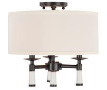 Crystorama 8863-OR_CEILING - 3 Light Oil Rubbed Bronze Transitional Ceiling Mount