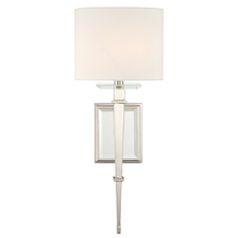 Crystorama CLI-231-PN - Crystorama Clifton 1 Light Polished Nickel Sconce