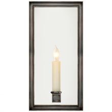 "Visual Comfort CHD 2051BZ - Lund 12"" Single Sconce in Bronze with Mirror"
