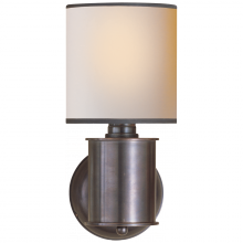 Visual Comfort TOB 2011BZ-NP/BT - Metropolitan Sconce in Bronze with Natural Paper