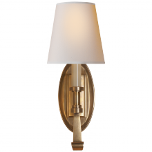Visual Comfort TOB 2135HAB-NP - Calliope Single Sconce in Hand-Rubbed Antique Br