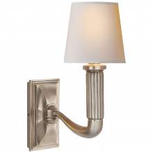 Visual Comfort TOB 2335AN-NP - Gallois Sconce in Antique Nickel with Natural Pa