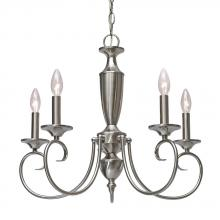 Golden 139X-CN5 PW - Centennial PW 5 Light Candelabra Chandelier i