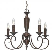Golden 139X-CN5 RBZ - Centennial RBZ 5 Light Candelabra Chandelier