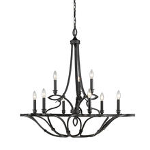 Golden 2870-9 ABZ - 2 Tier - 9 Light Chandelier