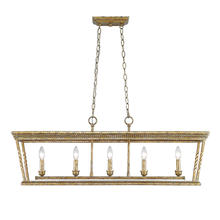Golden 4214-LP LG - 5 Light Linear Pendant