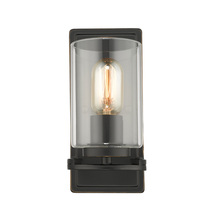 Golden 7041-1W BLK-CLR - Monroe 1 Light Wall Sconce in Black with Clear Glass