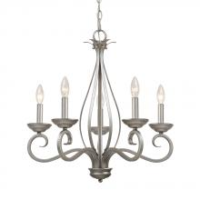 Golden 7221-CN5 AR - Whitney AR 5 Light Candelabra Chandelier in t