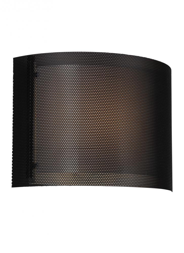 LED ADA Wall Sconce With Black Metal Screen And White Acrylic Diffuser 4933291S 12
