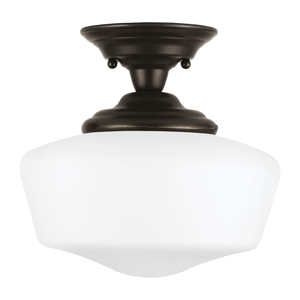 Lighting Etc. in North Richland Hills, Texas, United States, Sea Gull 7743691S-782, Medium LED Semi-Flush Mount, Academy