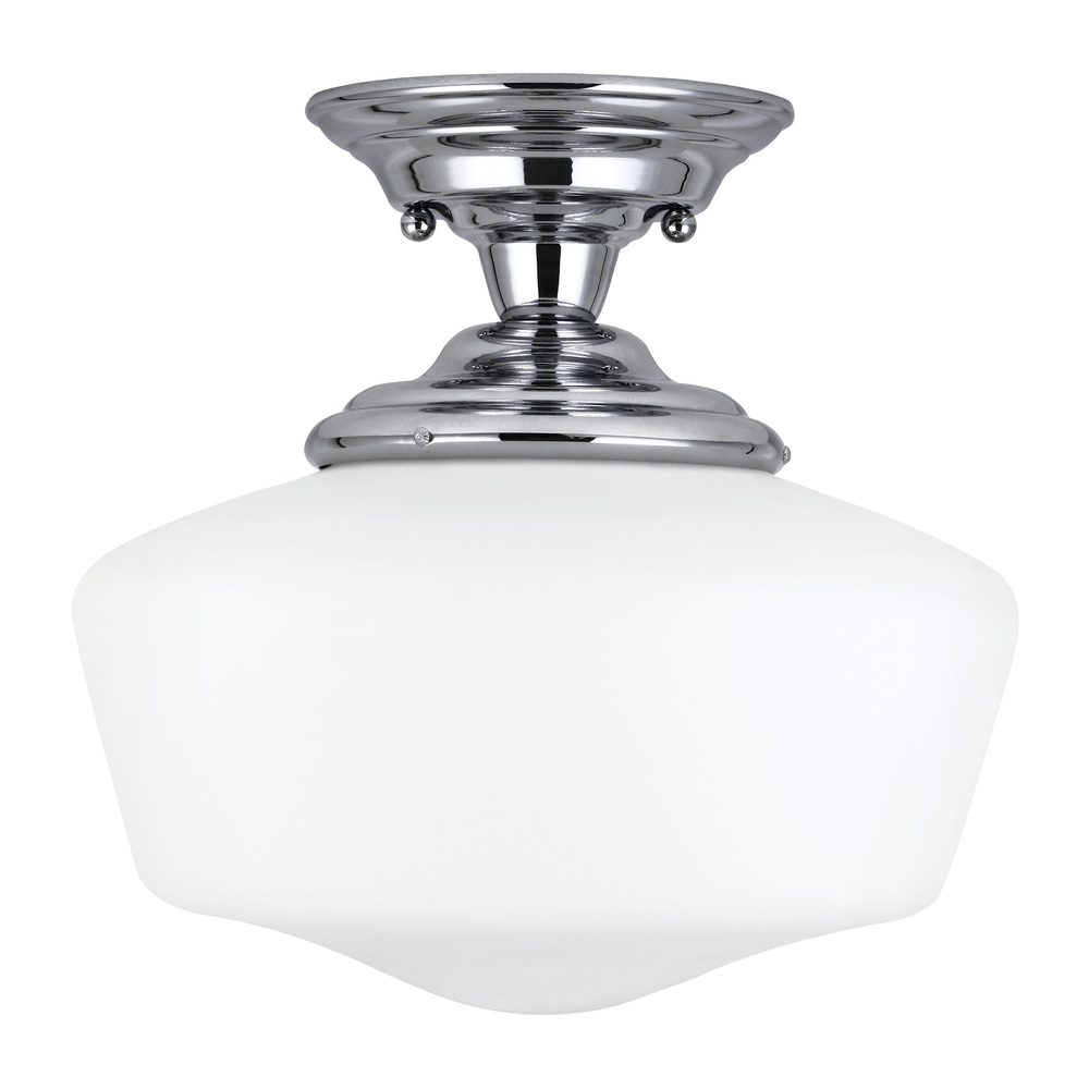 Lighting Etc. in North Richland Hills, Texas, United States, Sea Gull 77437-05, Large One Light Semi-Flush Mount, Academy
