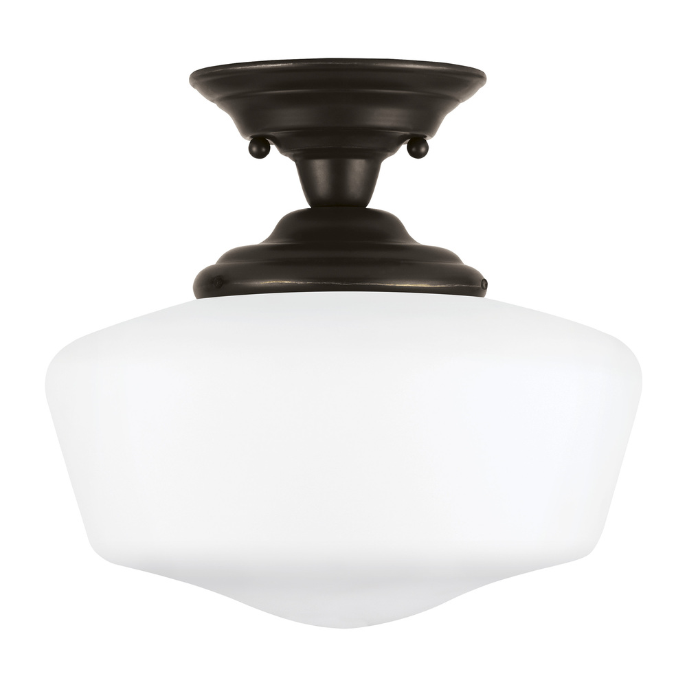 Lighting Etc. in North Richland Hills, Texas, United States, Sea Gull 77437-782, Large One Light Semi-Flush Mount, Academy