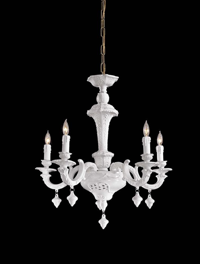 White italian white porcelain up chandelier n950125 lighting etc aloadofball Gallery