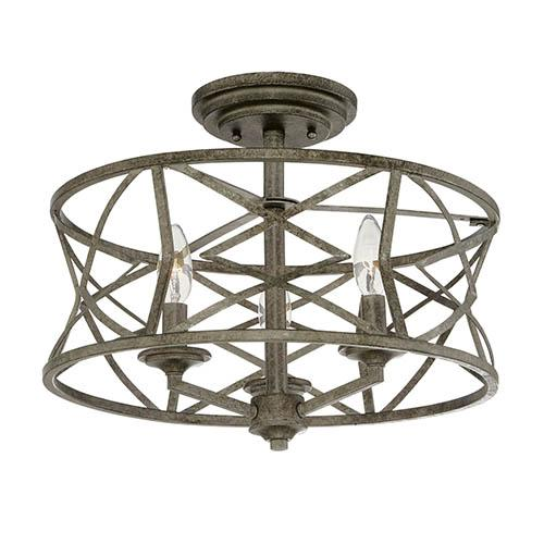 Lighting Etc. in North Richland Hills, Texas, United States, Millennium 2173-AS, Semi-Flush Ceiling Mount, Lakewood