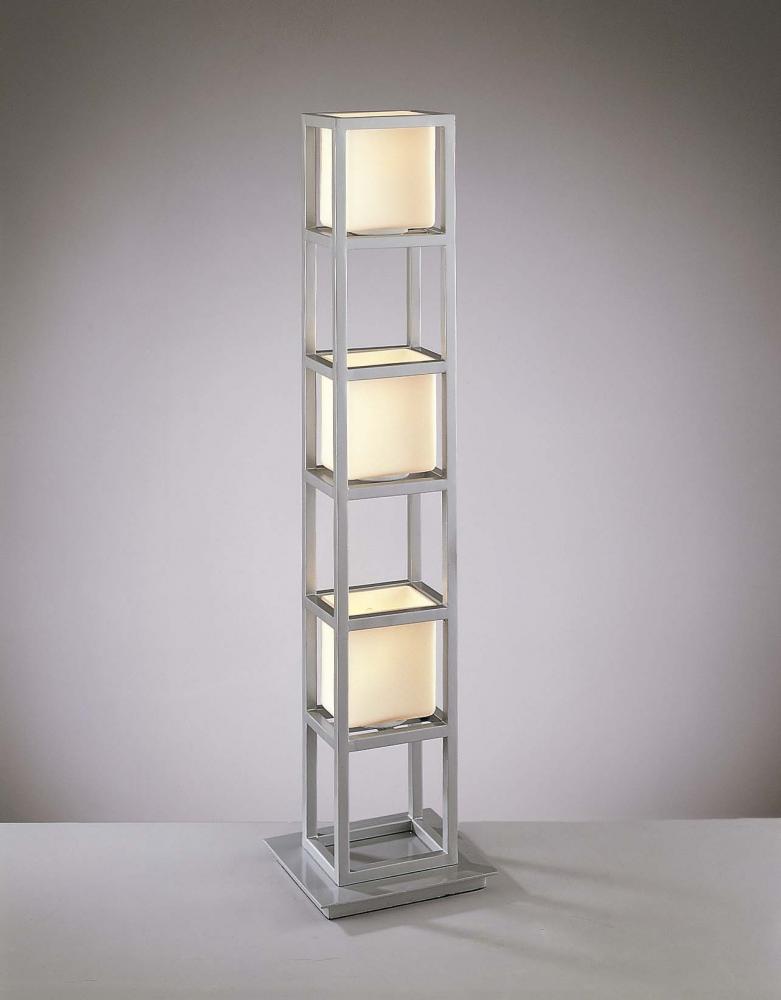 Minka George Kovacs P155 609   Three Light Silver Etched Opal Glass Table  Lamp