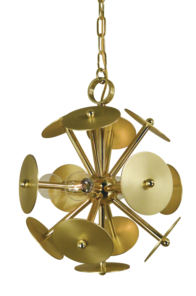 Lighting Etc. in North Richland Hills, Texas, United States, Framburg 4974 AB/MB, 4-Light Antique Brass/Magogany Bronze Apogee Mini Chandelier, Apogee