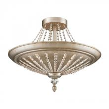 ELK Lighting 11360/9 - Renee 9 Light Semi Flush In Aged Silver