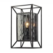 ELK Lighting 14120/1 - Cubix 1 Light Wall Sconce In Oiled Bronze And Cl