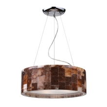 ELK Lighting 19095/3 - Three Light Polished Chrome Drum Shade Pendant