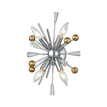 ELK Lighting 33250/4 - Williston 4 Wall Sconce Polished Chrome/Satin Brass
