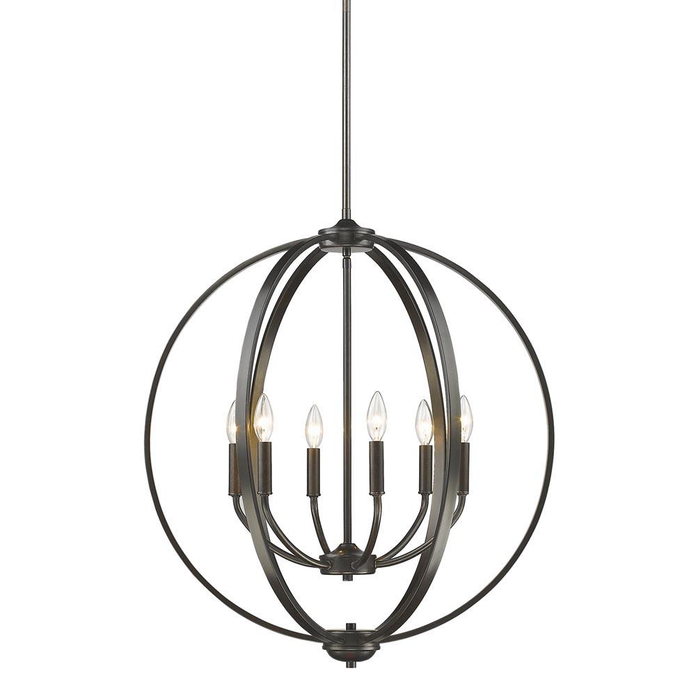colson 6 light chandelier   3167